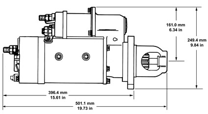 delco remy starter 42MT_dim 42mt starter motor specifications delco remy delco starter solenoid wiring diagram at crackthecode.co