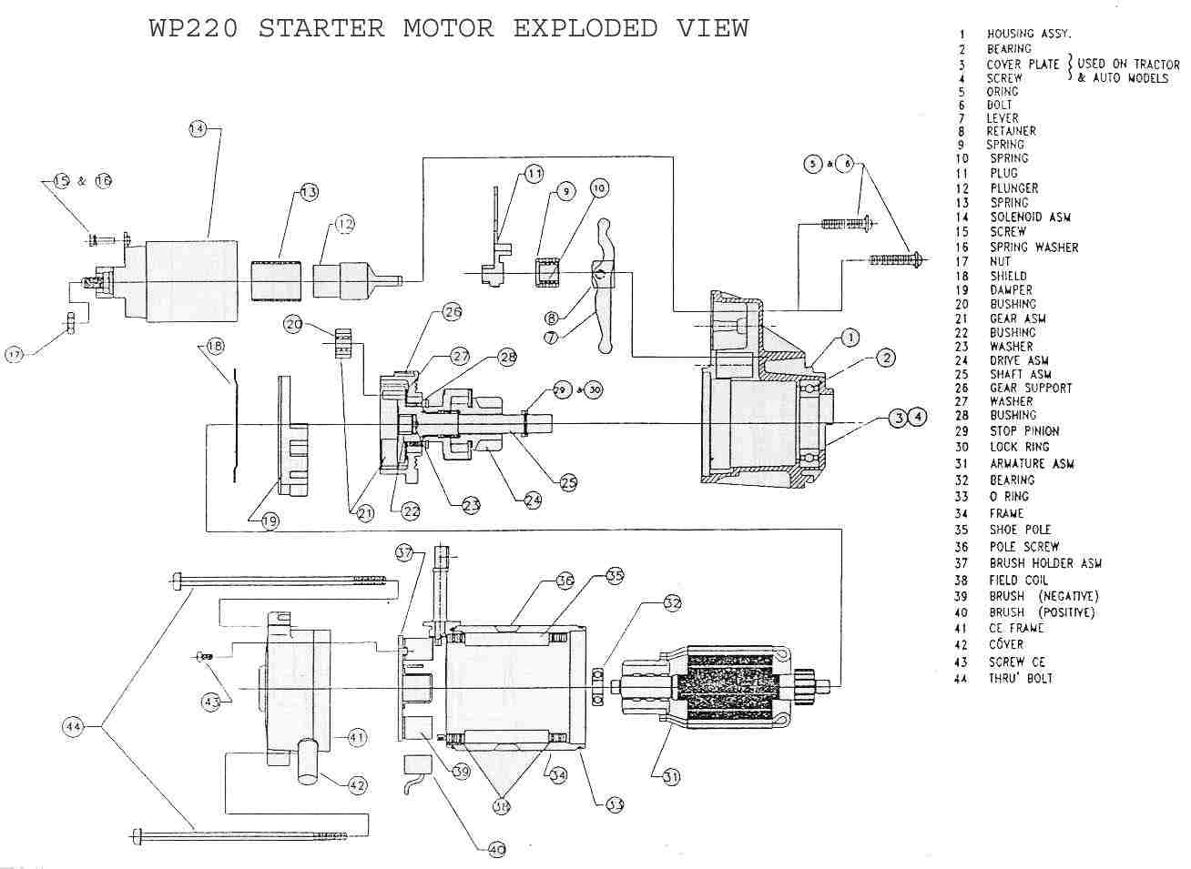 Wp220 Starter Delco Remy